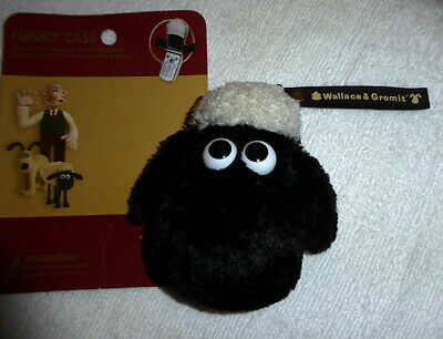 NIB Shaun the Sheep Original mobile phone size stuffed case pouch Wallace Gromit