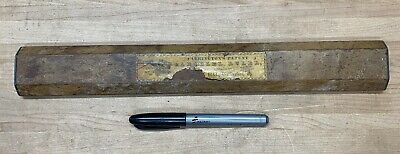 "Antique Rolling Parallel Ruler Carrington Patent 12"" Wood Map Nautical Navigate"