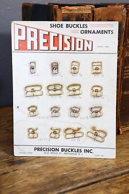 Vintage PRECISION Buckles Store Display Shoe Boot buckle Advertising workwear