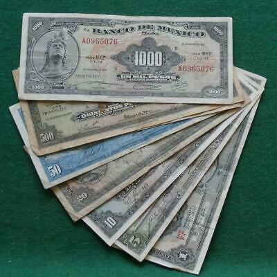 American Bank note Co 8 notes 1,5,10,20, 50,100,500  & 1000 pesos VF