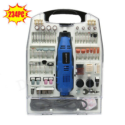 135W Hobby Rotary Drill Multi Tool Grinder Kit Set accepts Dremel Accessories UK