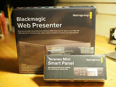 Blackmagic Design Web Presenter + Teranex Mini Smart Panel + Power Cord