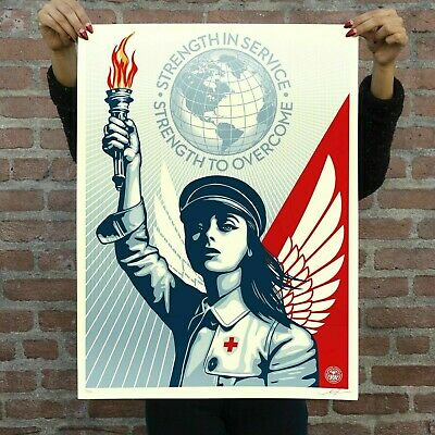 Obey Shepard Fairey ANGEL OF HOPE AND STRENGTH Print Poster SOLD OUT ONLY 550