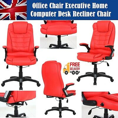 Deluxe Reclining Office Chair Executive Home Computer Desk Swivel Recliner Chair