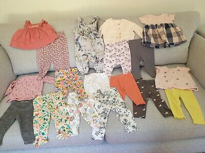 Baby Girl's NEXT, George, TU Summer Tops, Leggings Clothes Bundle 6 - 9 Months