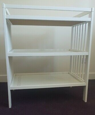 Ikea Gulliver Baby Changing Table White With Shelves