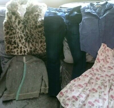 Girls Clothes Bundle 11-12  Next River Island h&m.. Bodywarmer dress tops jeans