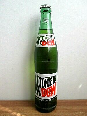 1985 Mountain Dew 16 Fl Oz Money Back Bottle, Rare Unopened