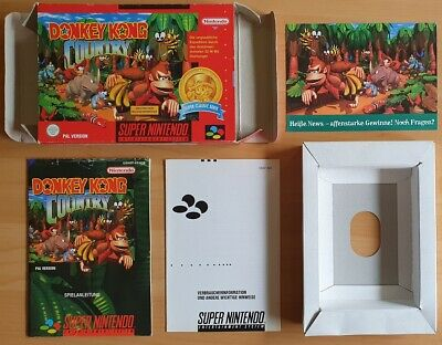 SNES Super Nintendo - OVP mit Inlay, Anleitung, Postkarte Donkey Kong Country