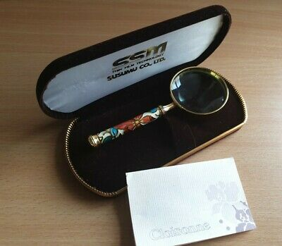 Cloisonne magnifying glass