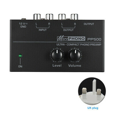 PP500 Interface Portable Preamplifier Turntable Phono Preamp Home Ultra Compact