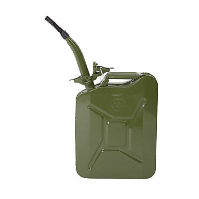 Jerry Can 5 Gal 20L Green Steel Gbsasoline Gas Fuel Tank Emergency Portable New