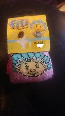 Gorgeous Girls Fifi And The Flower Tots Socks, 2 Pairs, 6-8.5 *Brand New*