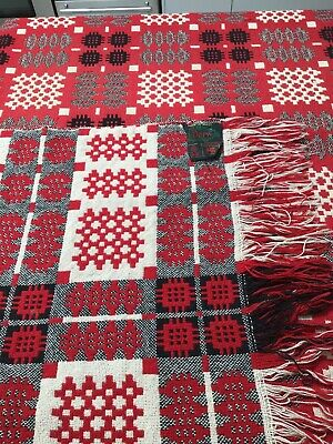 2 Beautiful matching and reversible vintage welsh blankets