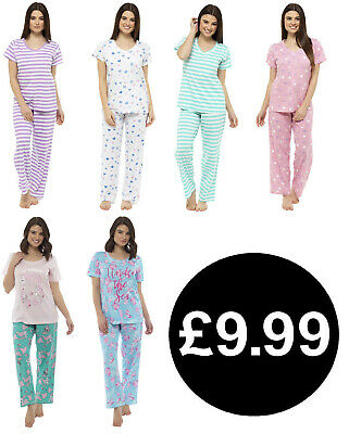 Ladies Pyjamas Night Wear Cotton Womens Pj Sets Uk Sizes 8-22 Sleep Wear Bnwt