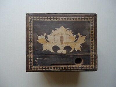 inlaid  wood  puzzle  box