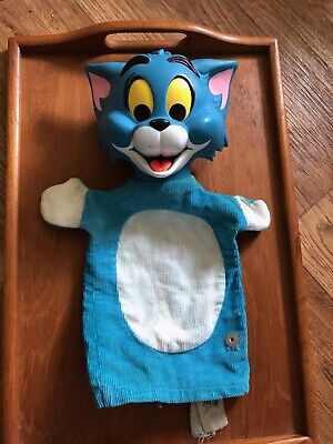 Mattel 1965 Vintage Tom and Jerry Puppet Figure TOM ONLY
