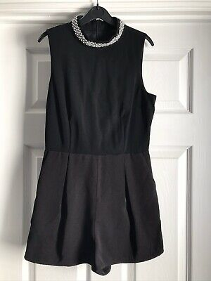New Look   Girls   Playsuit   Age 10-12   Black   Smart   Pearl & Bead Neck