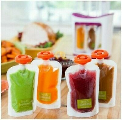 NEW Infantino Fresh Squeeze 10 Storage Pouches ONLY for toddler or baby food