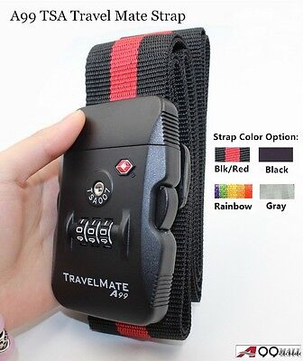 TSA lock Travel Strap Luggage belt 3 Digital Dial Combination Suitcase Strap
