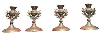 Group of Four (4) Sterling Silver Early American Place Card Holders