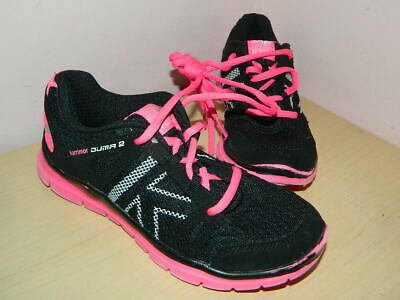 Karrimor Run Duma 2 black/pink textile lace up trainers uk 1 eur 34