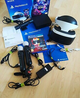 Sony playstation vr headset with move controllers