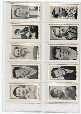 D.C. Thomson Stars of Sport and Entertainment (Rover) x 24 cards. 1958
