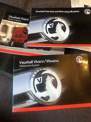 Vauxhall Vivaro Service Manual History Book Folder