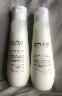 Brand New Decleor Aroma Cleanse Essential Cleansing Milk Travel Size 2 x 50ml