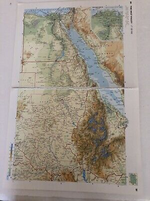 2002: Jumbo Map Of The Nile Valley & NILE Delta Original Print