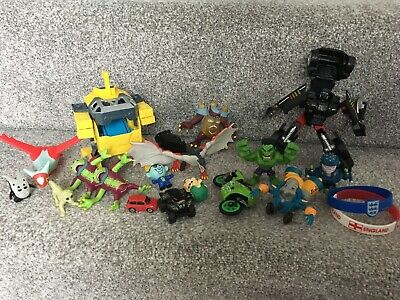 Kids Boys Transformers Monsters Car Bike Figures Toys Bundle Set 17 ITEMS