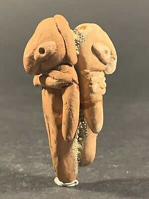 Scarce Double Sided Ancient Tel Halaf Terracotta Fertility Idol Circa 5000Bce