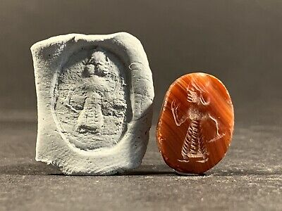 Ancient Greek Intaglio Carnelian Stone Seal Of Themistocles - Circa. 524-460 Bce