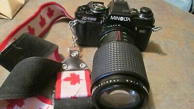 Vintage Minolta X-700 MPS 35mm Film Camera  with Makinon MC 1:4.5 F=80-200mm  Le