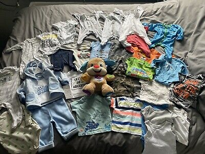 Baby Boy 0-3 Months Clothes Bundle 31 Items Baby Clothing Job Lot