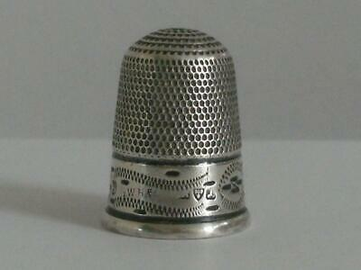 SOLID SILVER THIMBLE Chester 1901