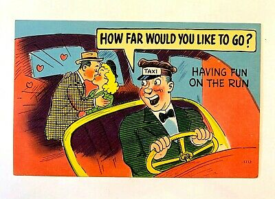 "Vintage 1930-40's Comic ""HOW Far Would You Like To Go? Having Fun..."" PC 527"