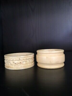 Early 20th Century Hand Carved Napkin Rings