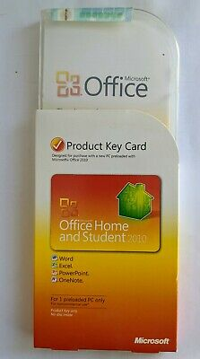 Microsoft Office 2010 Home and Student UK Product Key Card. Genuine.