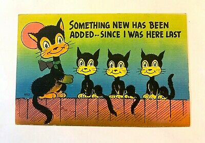 "Vintage 1930-40's Comic ""Something NEW Has Been Added Since I was Here.."" PC 527"