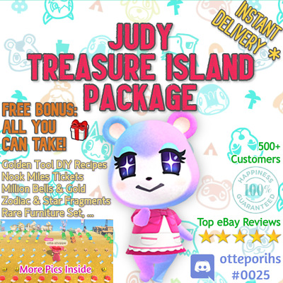 SALE: ✨ JUDY ✨ @ Your Island + Gold DIYs + 400NMTs or 12MIL ✨ Animal Crossing
