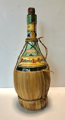 Fattoria La Cava-Chianti Wine Bottle - 1 Quart -Italy - Vintage 1966, AWESOME!!!