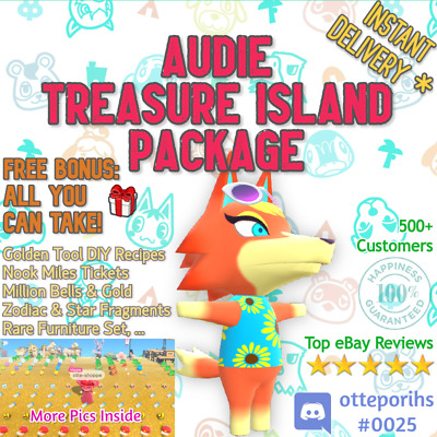 SALE: ✨ AUDIE ✨ @ Your Island + Gold DIYs + 400NMTs or 12MIL ✨ Animal Crossing