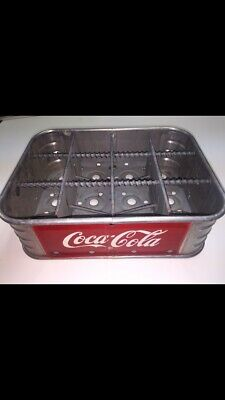 1950s ALUMINUM 1/2 CASE COCA-COLA BOTTLE CARRIER Vicksburg MS NICE Biedenharn CO