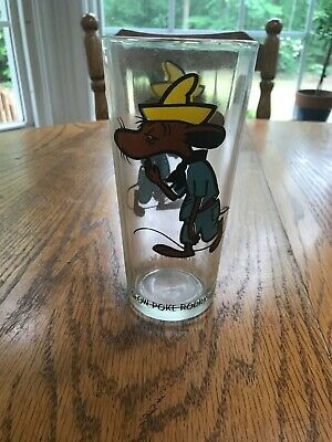 1973 Slow Poke Rodriguez Warner Bros. Pepsi Glass Excellent Condition