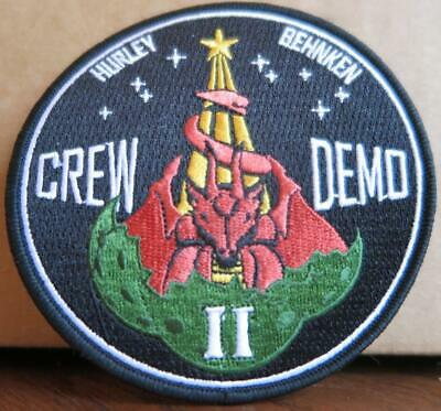 Crew Demo-2 Astronauts Launching From U.s.soil Mission Patch - Hurley & Behnken