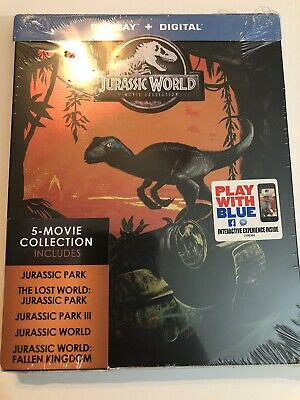 Jurassic World: 5-Movie Collection New Blu-ray Limited Steelbook New Set Digital