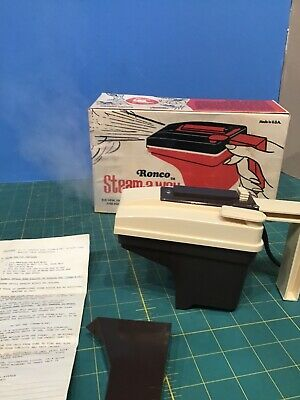 Ronco Steam-A-Way Portable Steamer Copyright 1970 Still in Box.