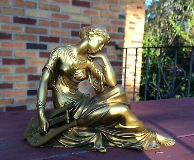 19th century GILT FRENCH BRONZE of a WOMAN.